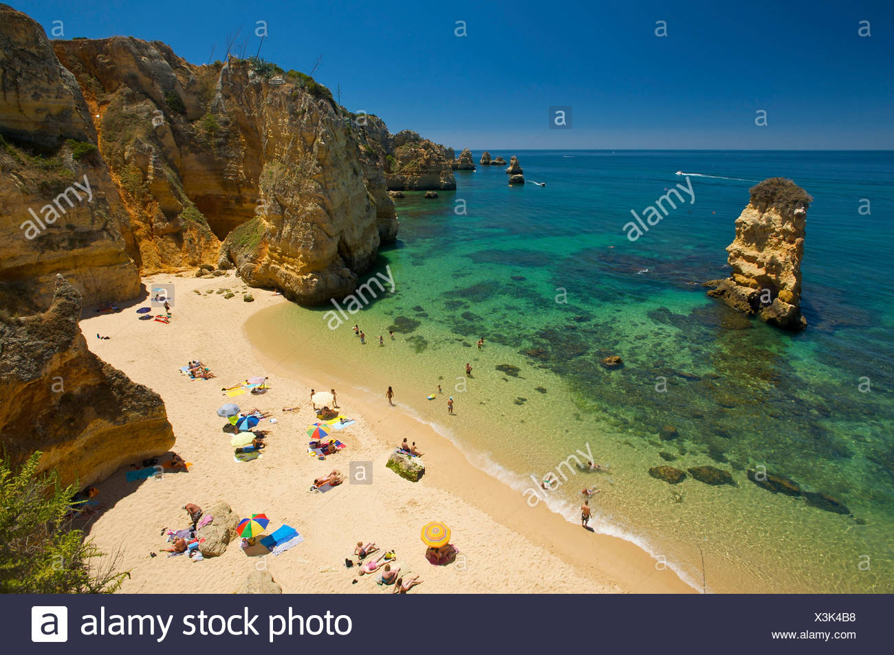 Praia Dona Ana near Lagos, Algarve, Portugal, Europe - Stock Image