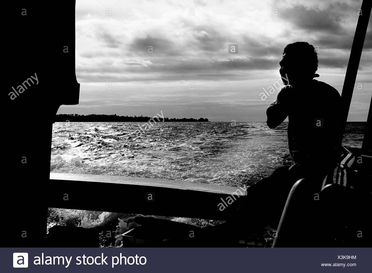 Fisherman, Sulawesi, Indonesia - Stock Image