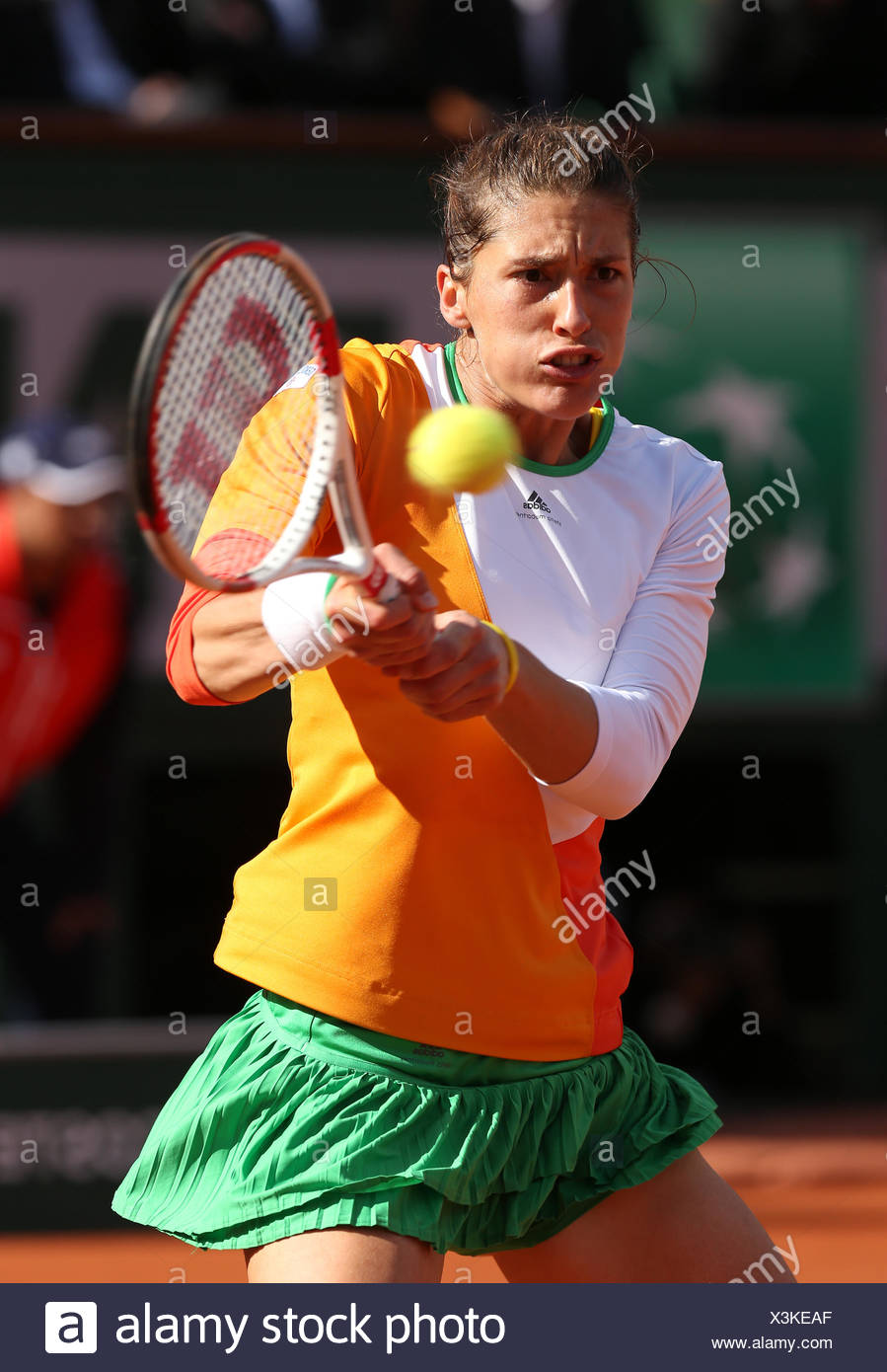 Andrea Petkovic, GER, 2014 French Open, Roland Garros, Paris, France Stock Photo