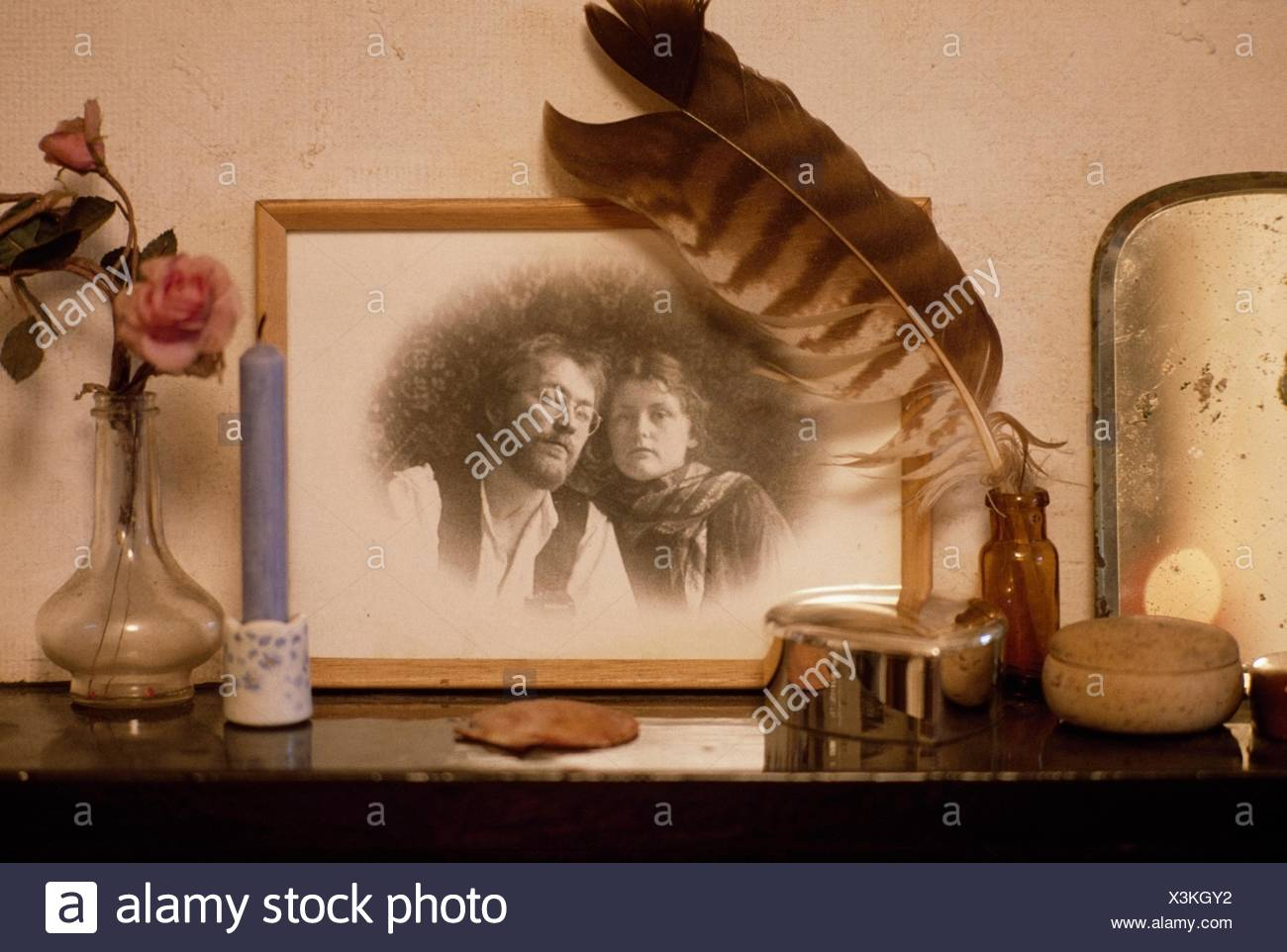 Objects On A Mantel; Ireland - Stock Image