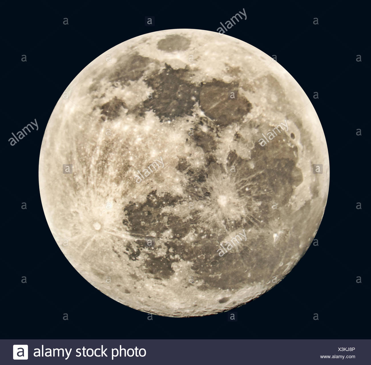 Full moon. Stock Photo