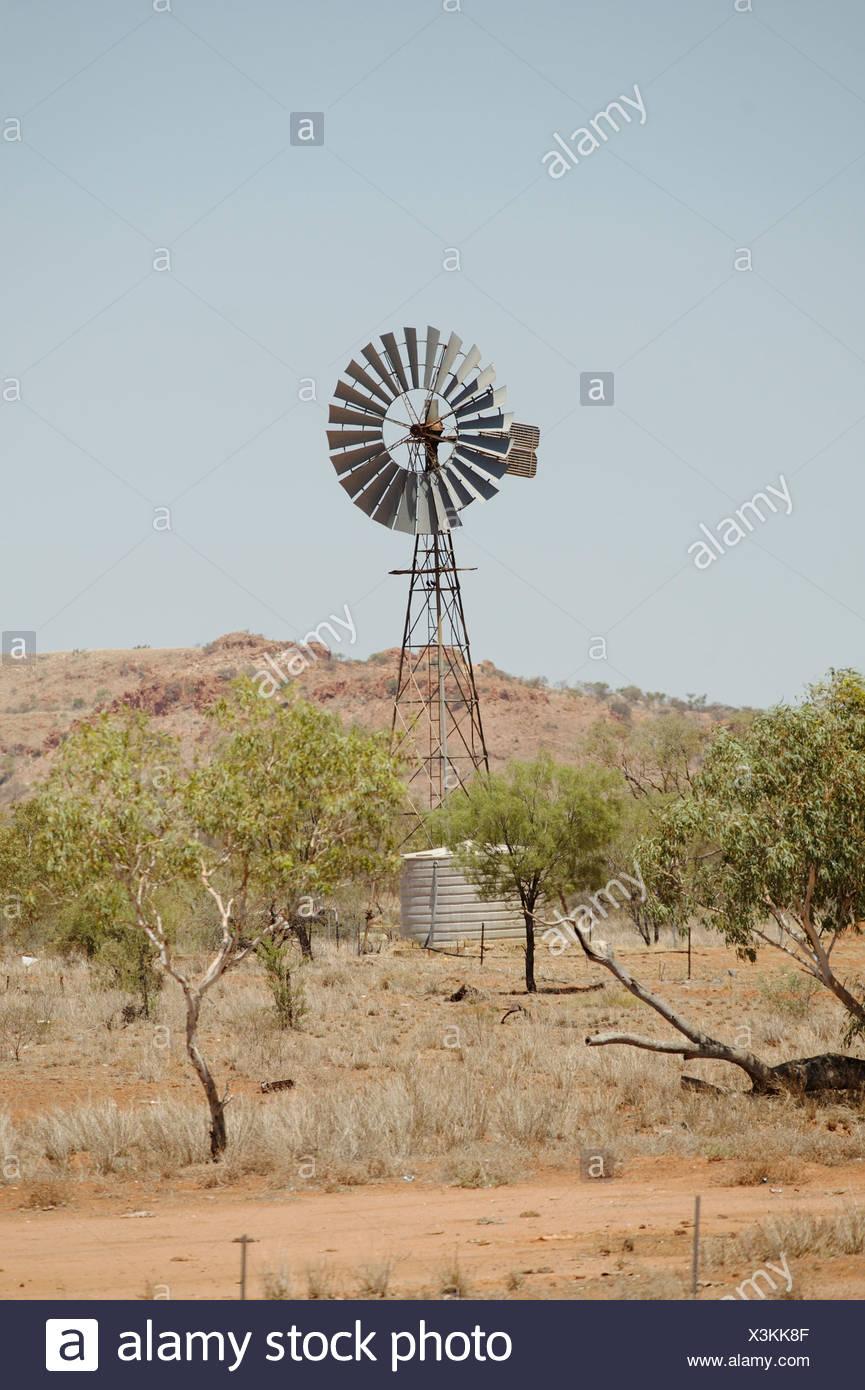 Australia, windmill - Stock Image