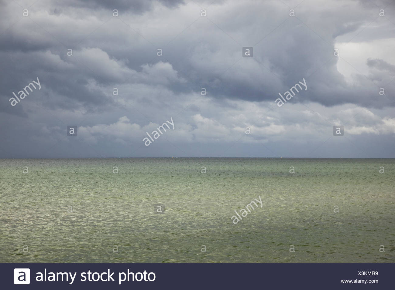 The Baltic Sea, cloudy sky, - Stock Image
