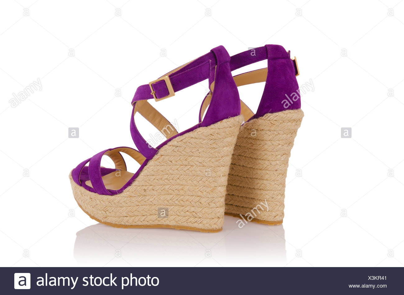 19e130d5bac Nice woman shoes isolated on white Stock Photo  277645089 - Alamy