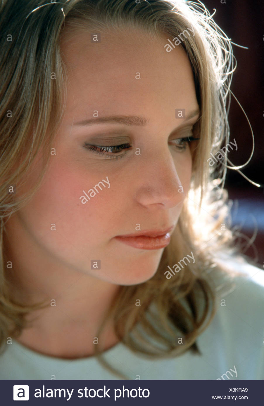 Young adult depressed - Stock Image