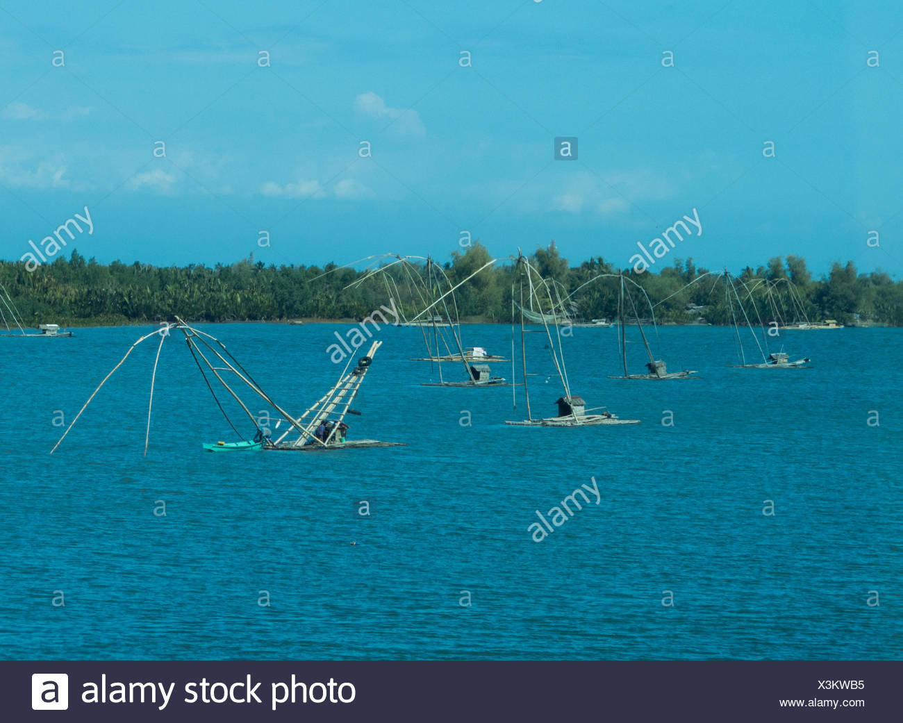Fishing boats in Sual, Luzon, Philippines - Stock Image