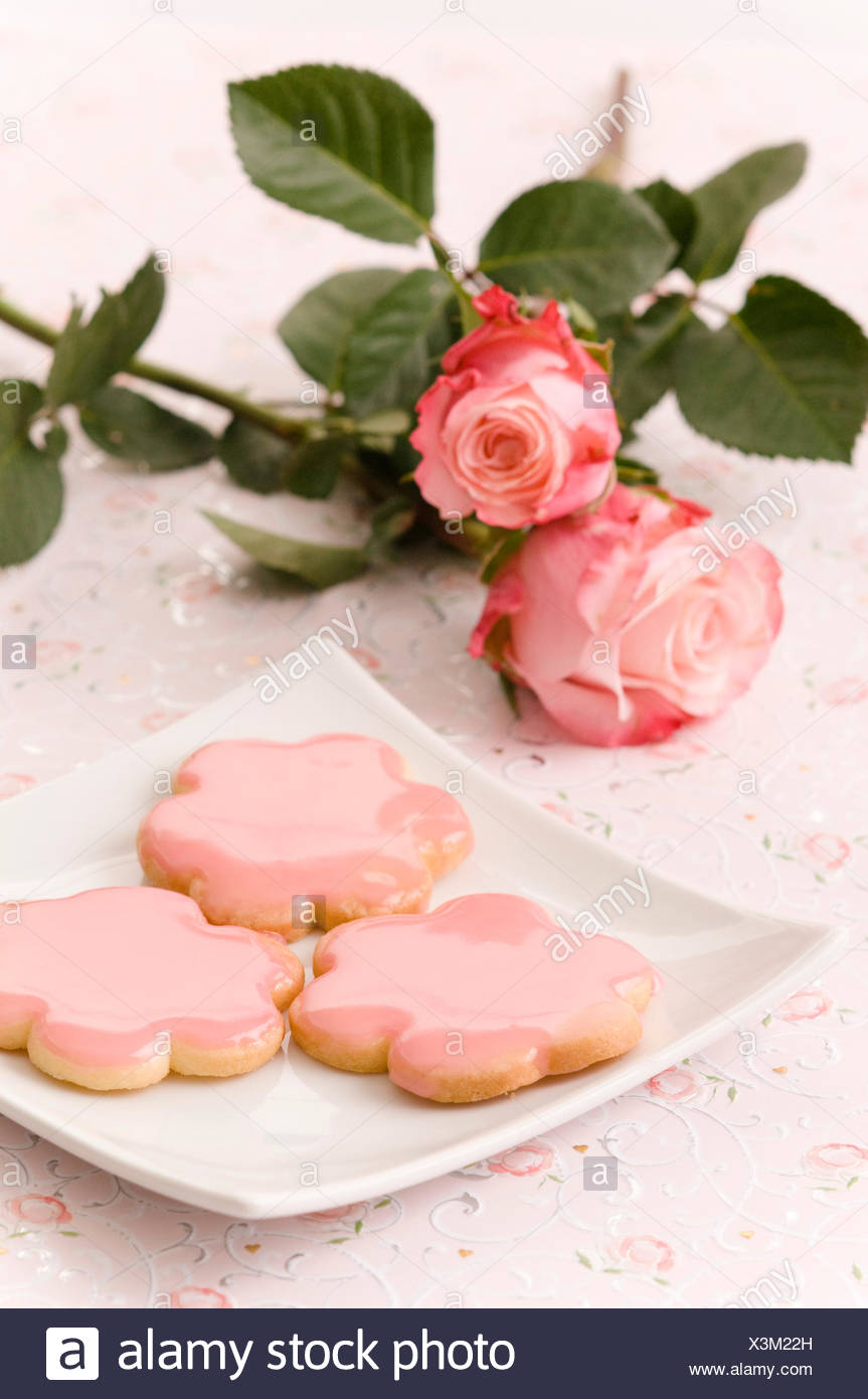 Cookies with icing - Stock Image