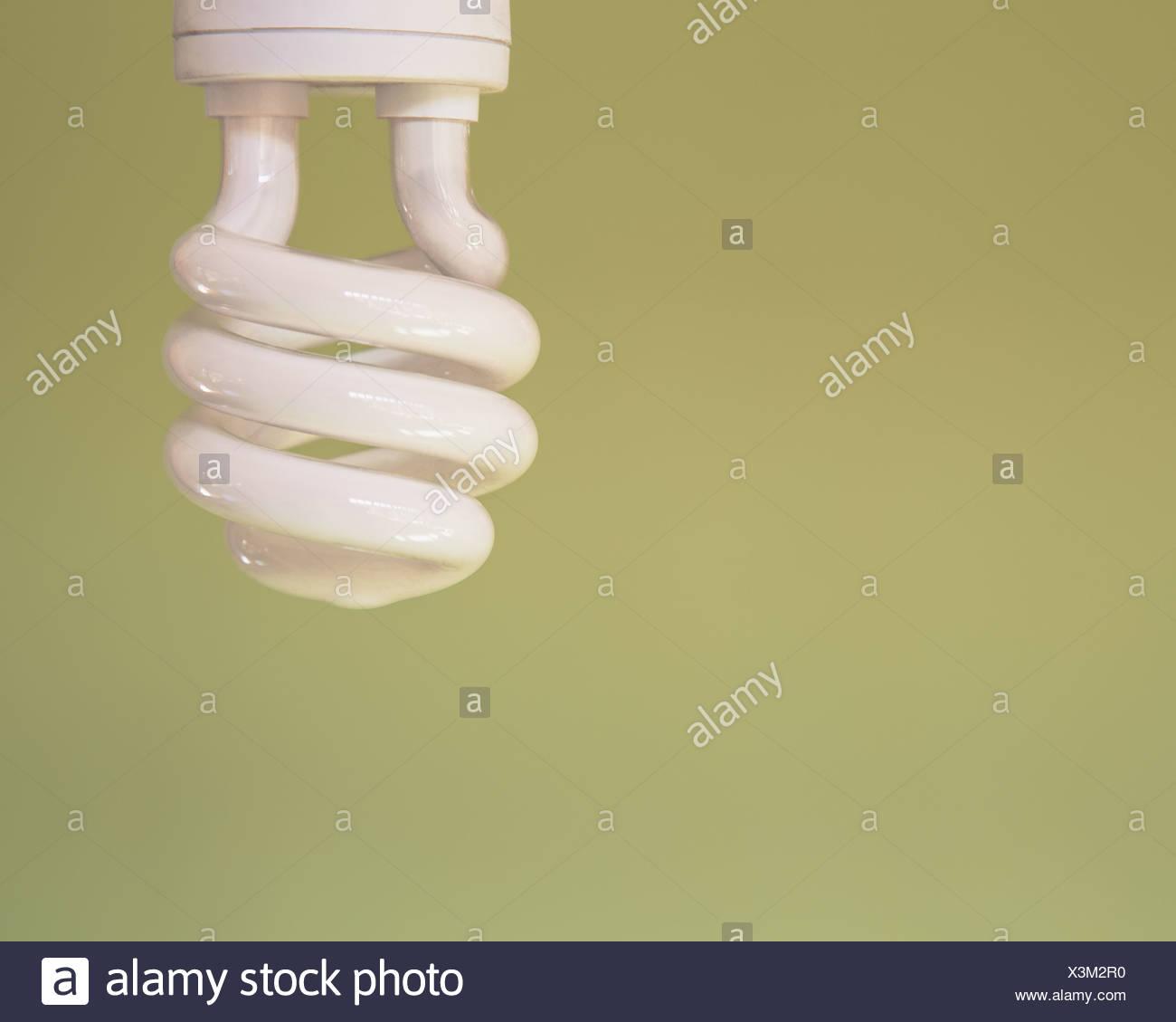 energy efficient fluorescent light bulb CFL - Stock Image