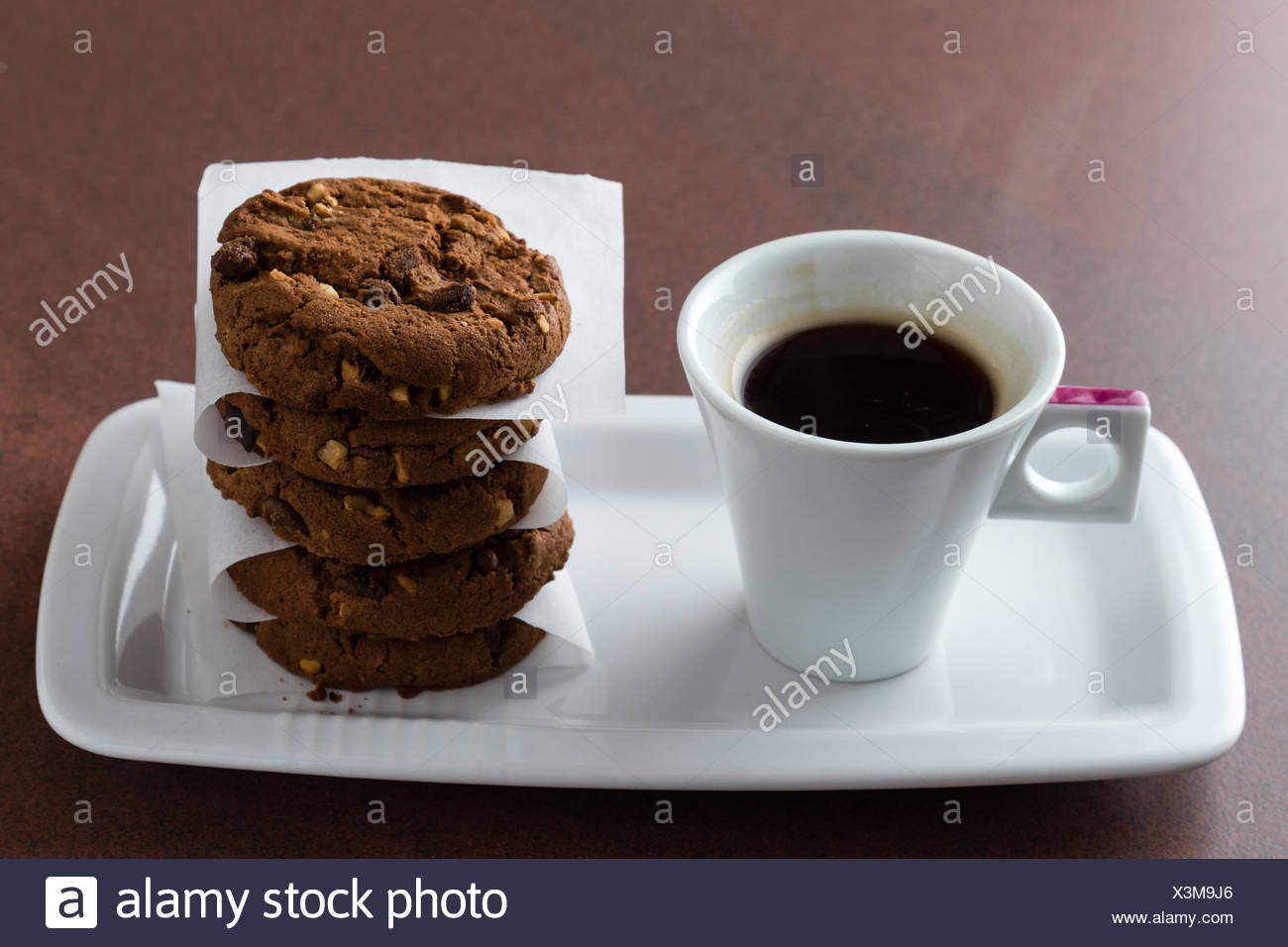 espresso and cookies - Stock Image