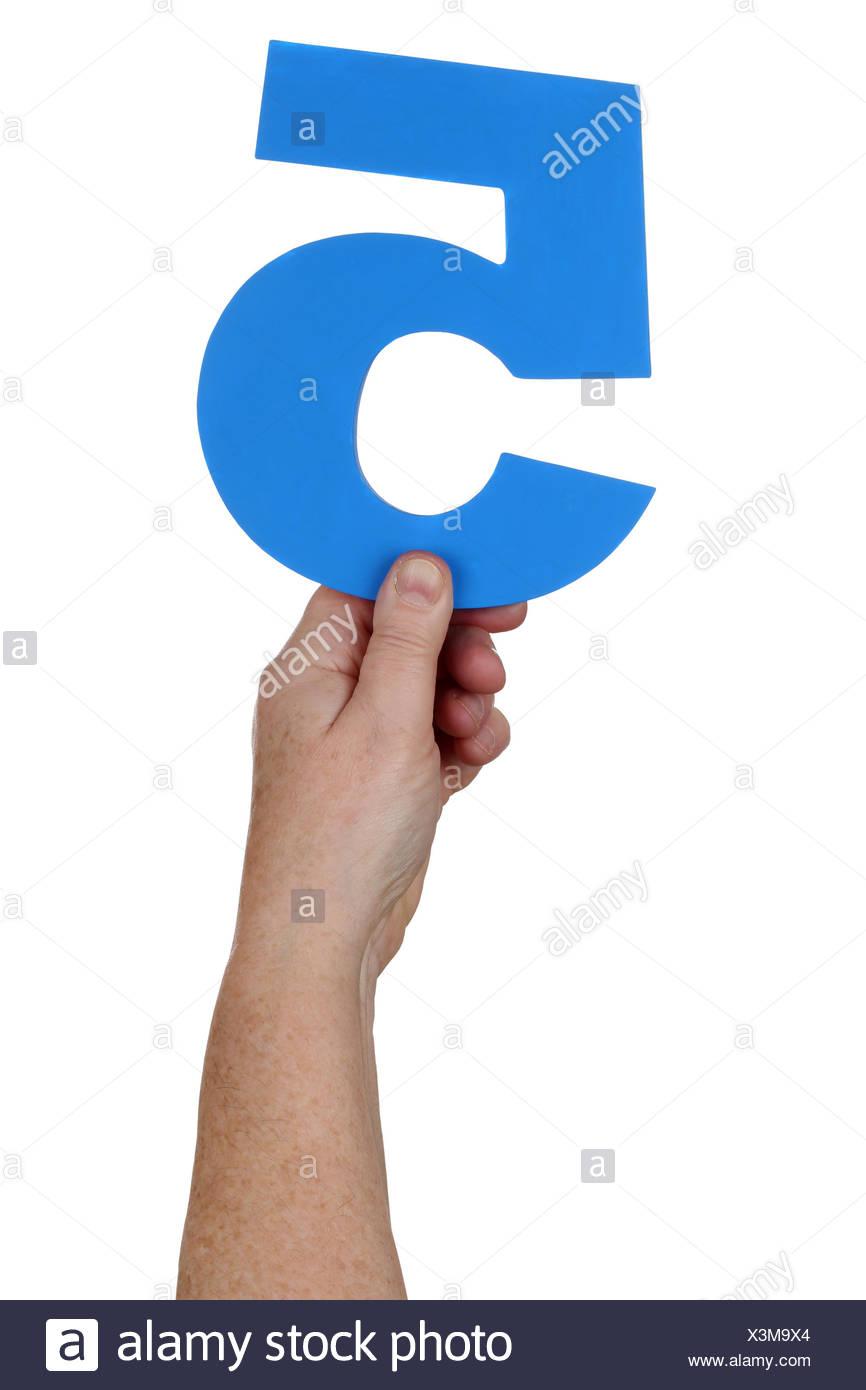 Hand halten Zahl 5 - Stock Image