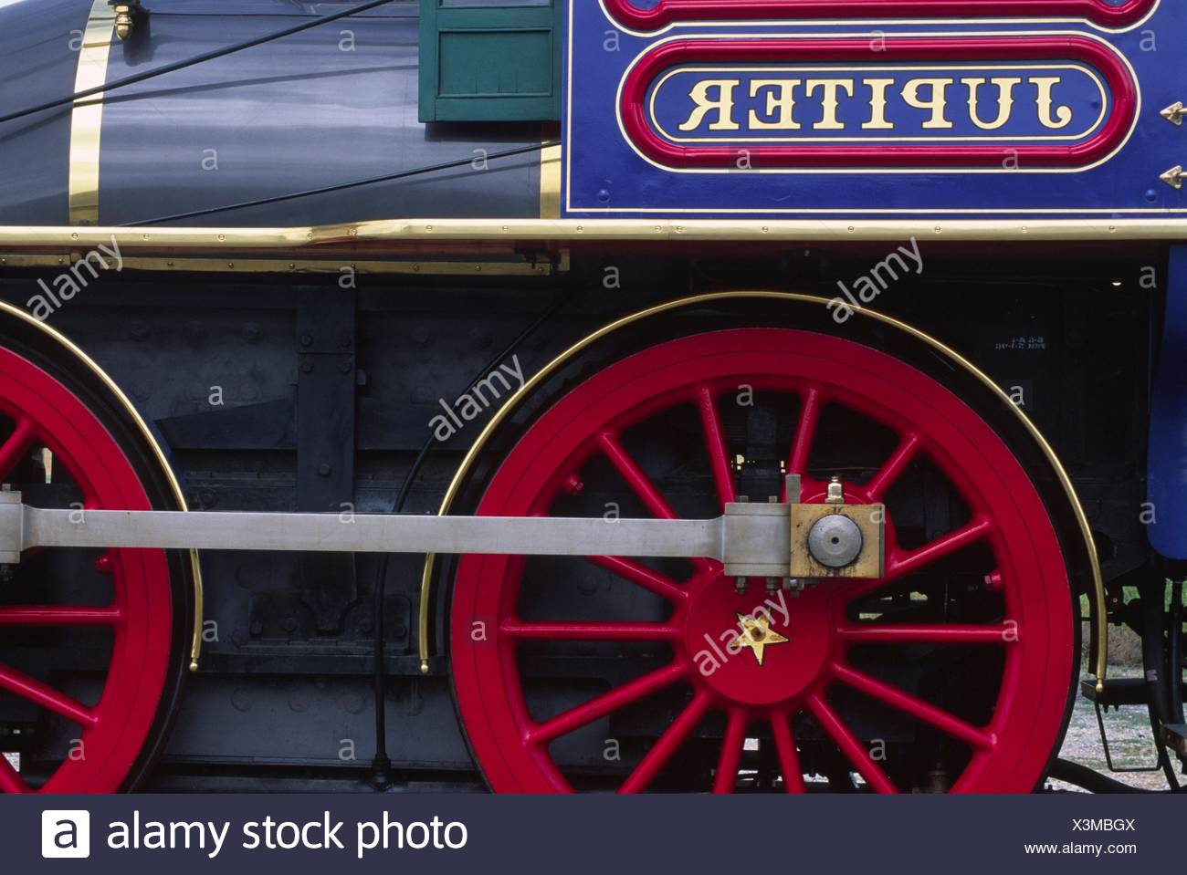 Steam engine Jupiter, Golden Spike National Historic Site, Utah. - Stock Image