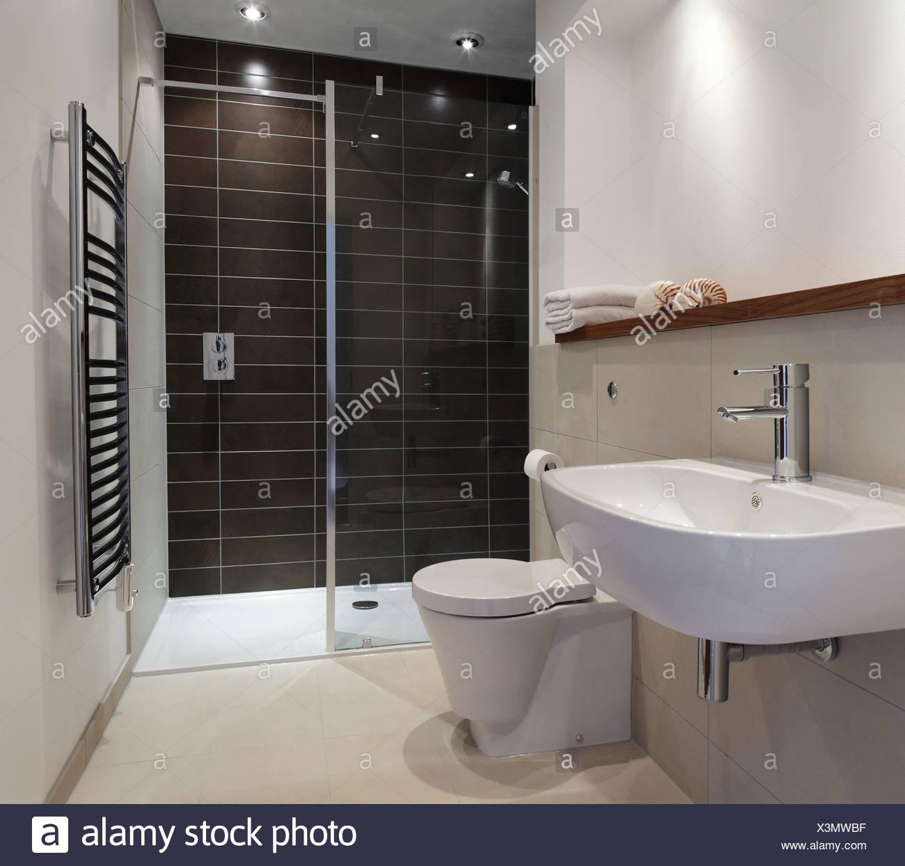 Stylish bathroom - Stock Image