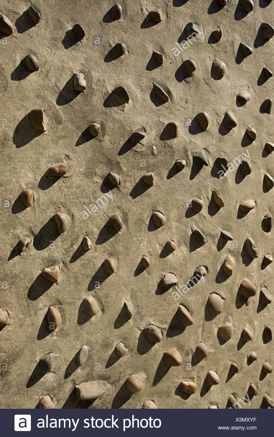 Stones on a wall - Stock Image