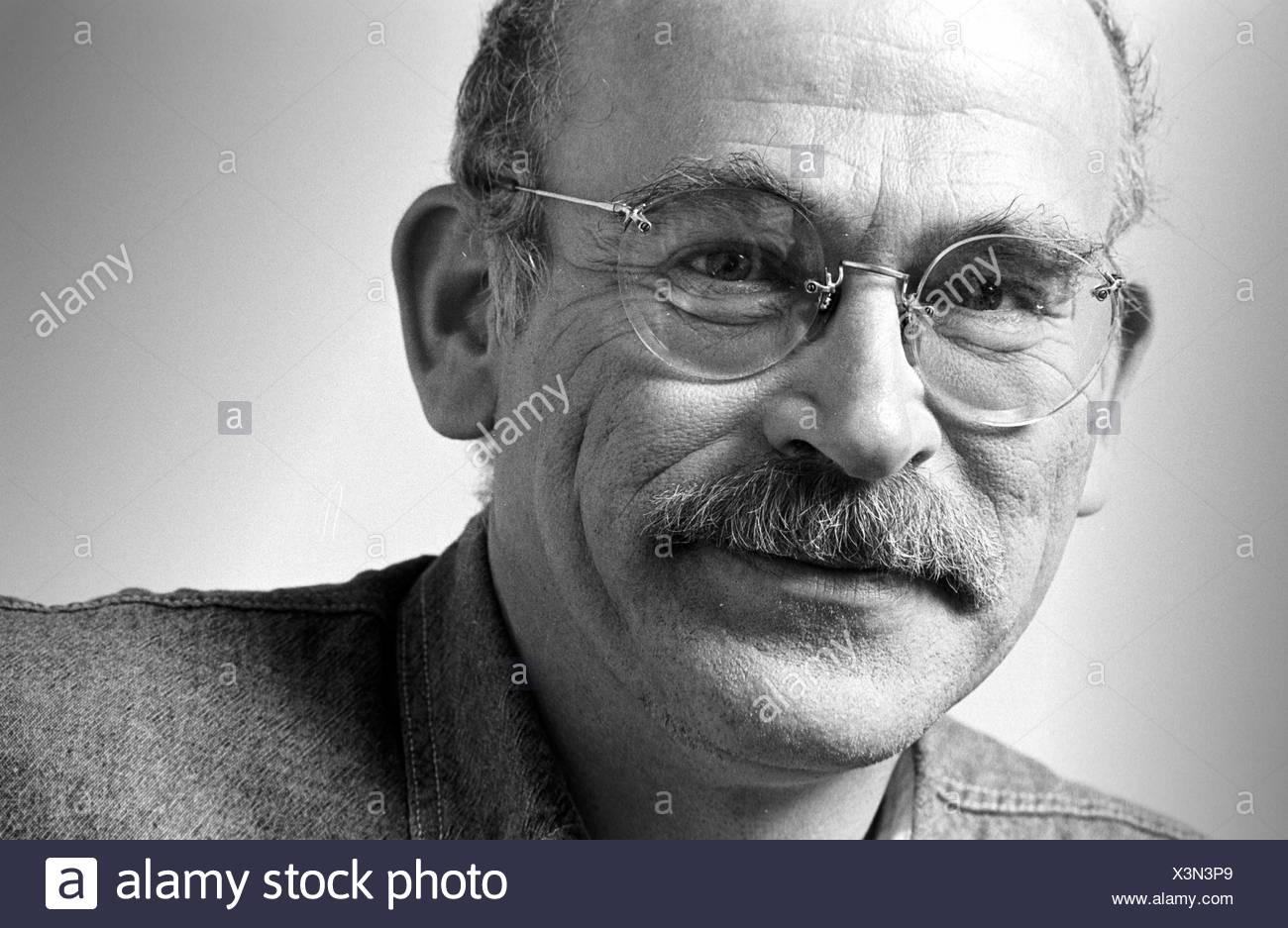 Portrait of Hans-Guenter Wallraff, German writer and journalist Stock Photo