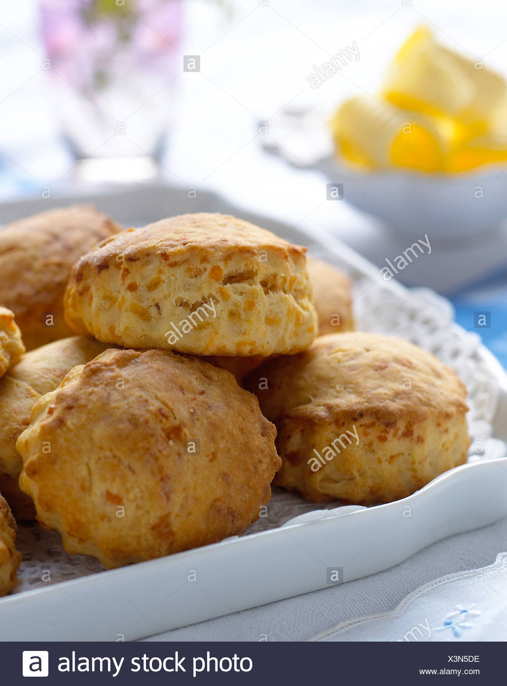 Cheese Scone - Stock Image