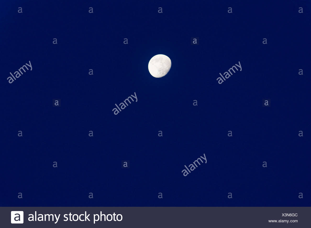 night nighttime moon evening outdoor outside dark backgrounds exterior firmament sky backdrop background outdoors nature - Stock Image