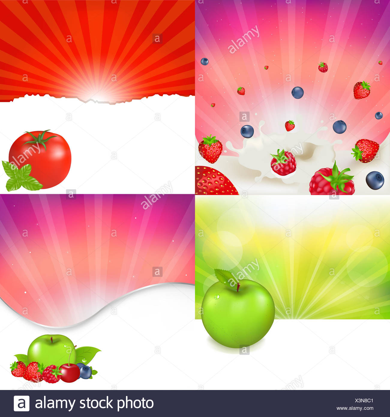 Fruit And Berries - Stock Image