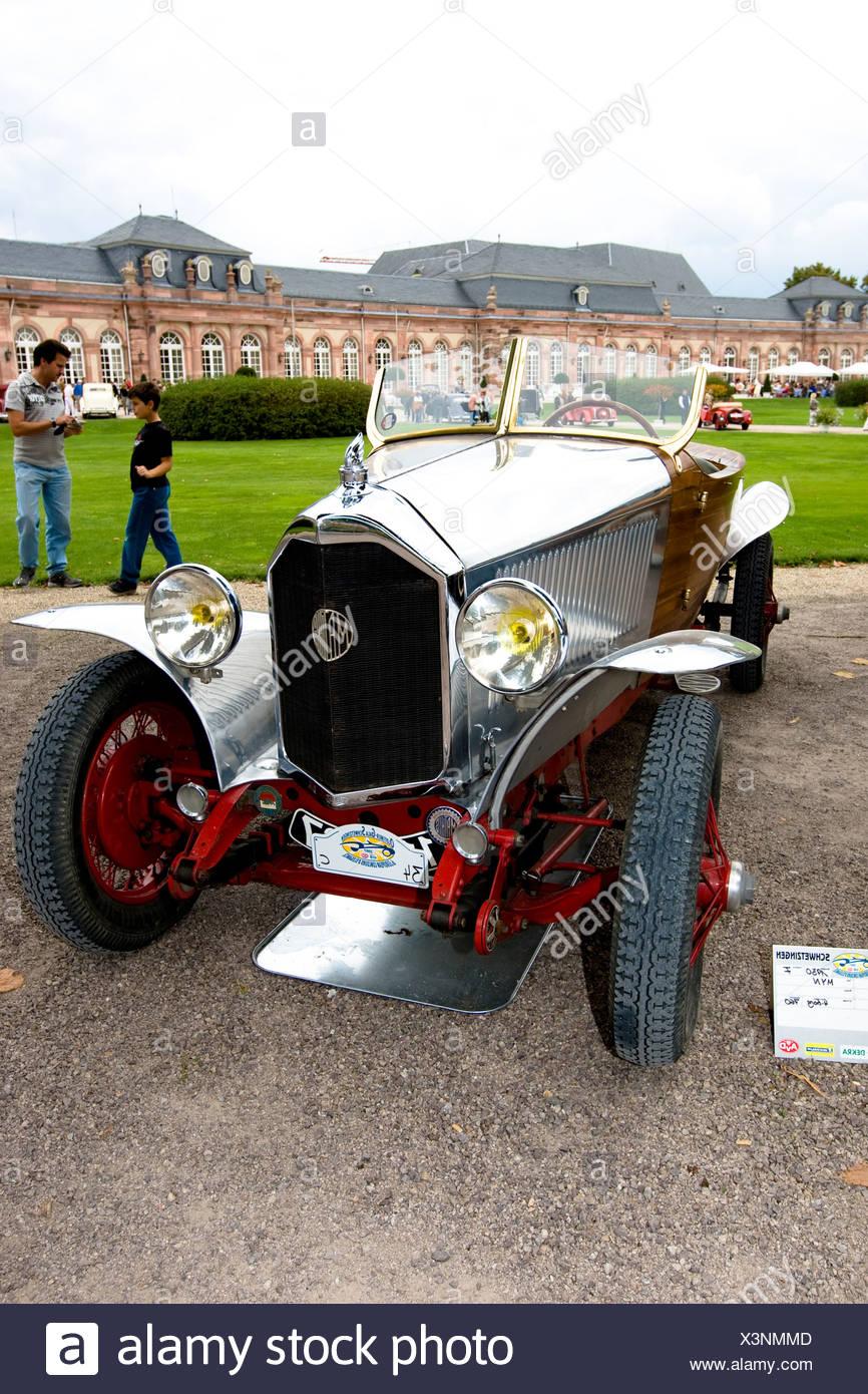Mathis MYN Torpedo, F 1930, vintage car meeting, Schwetzingen, Baden-Wuerttemberg, Germany Stock Photo