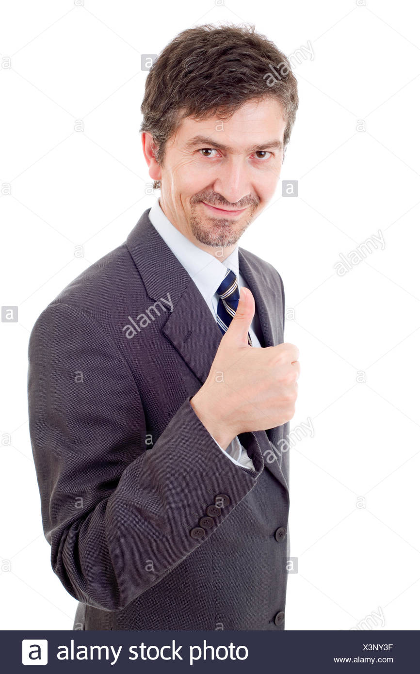 businessman thumb up - Stock Image