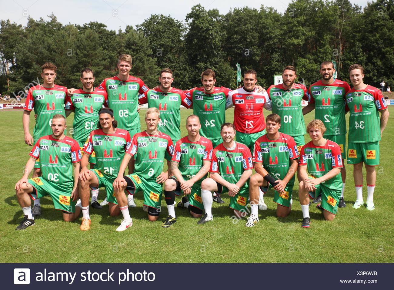 SC Magdeburg Saison 2015-16 - Stock Image