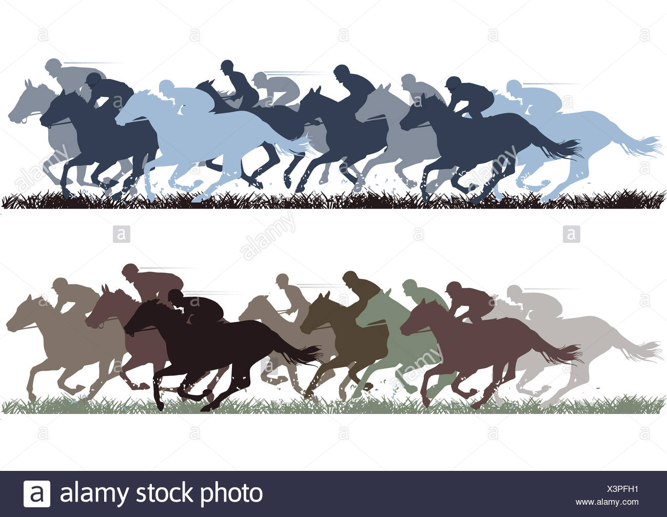 cavalry, horse, horses, gallop, outside, sportsman, stallion, mare, winner, - Stock Image