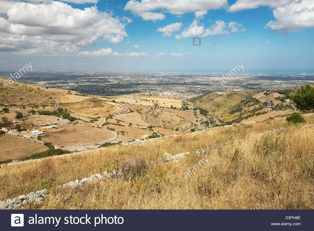 Inland of the island of Sicily in summer - Stock Image