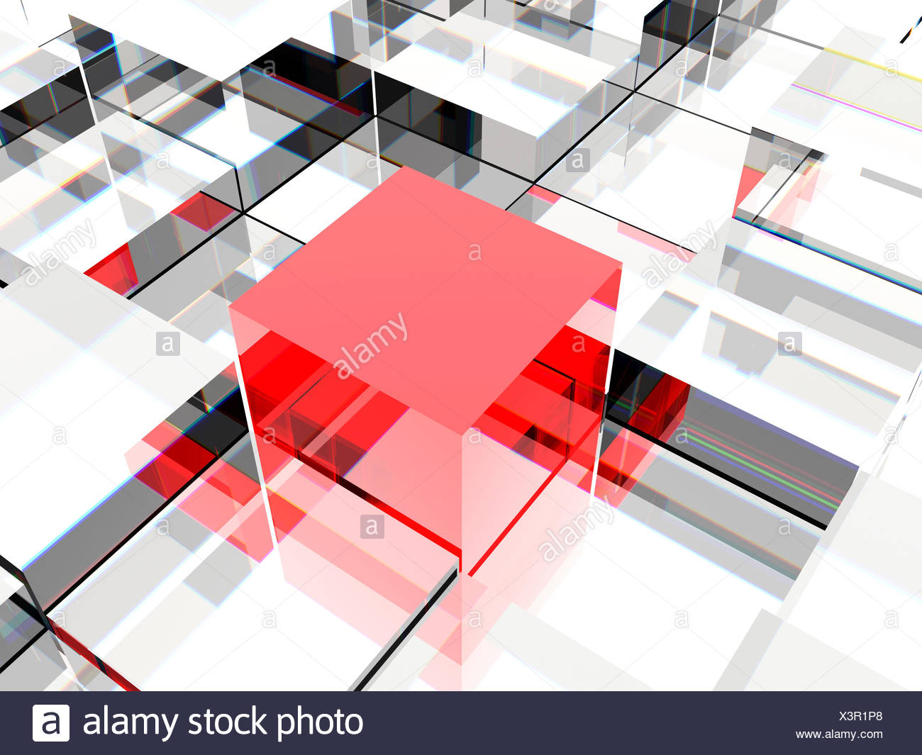 innovation difference cube - Stock Image