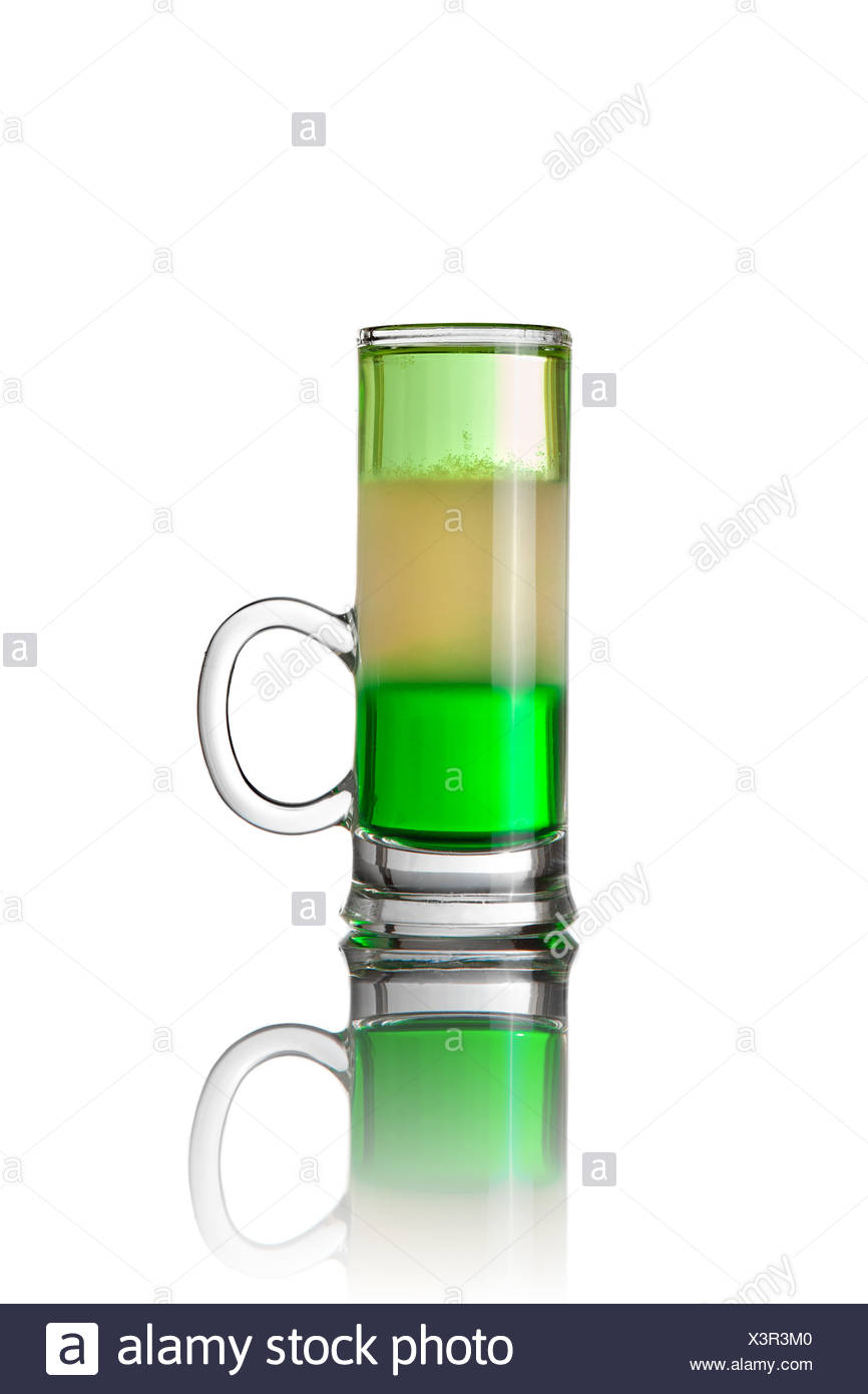 Shot drink cocktail isolated on white Stock Photo