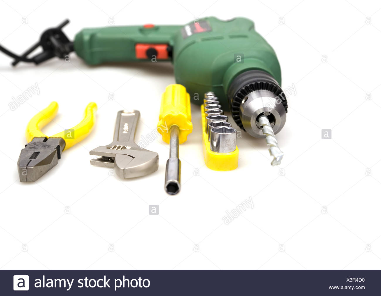 drill and other tools Stock Photo