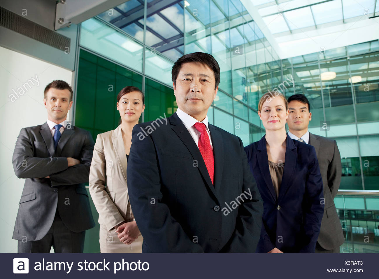 Multi racial businesspeople, portrait - Stock Image