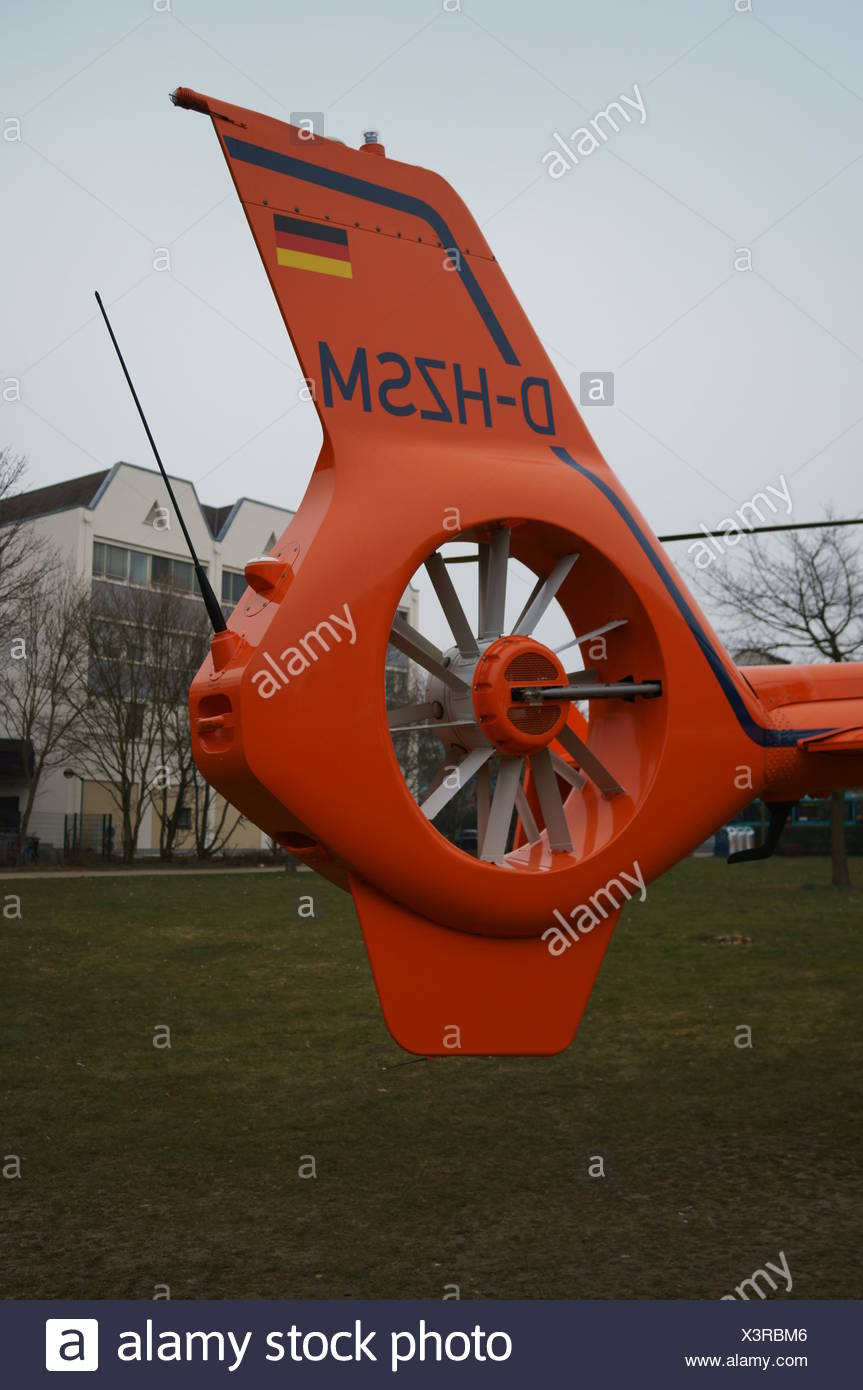 Air Rescue Helicopter Tail Rotor Stock Photo