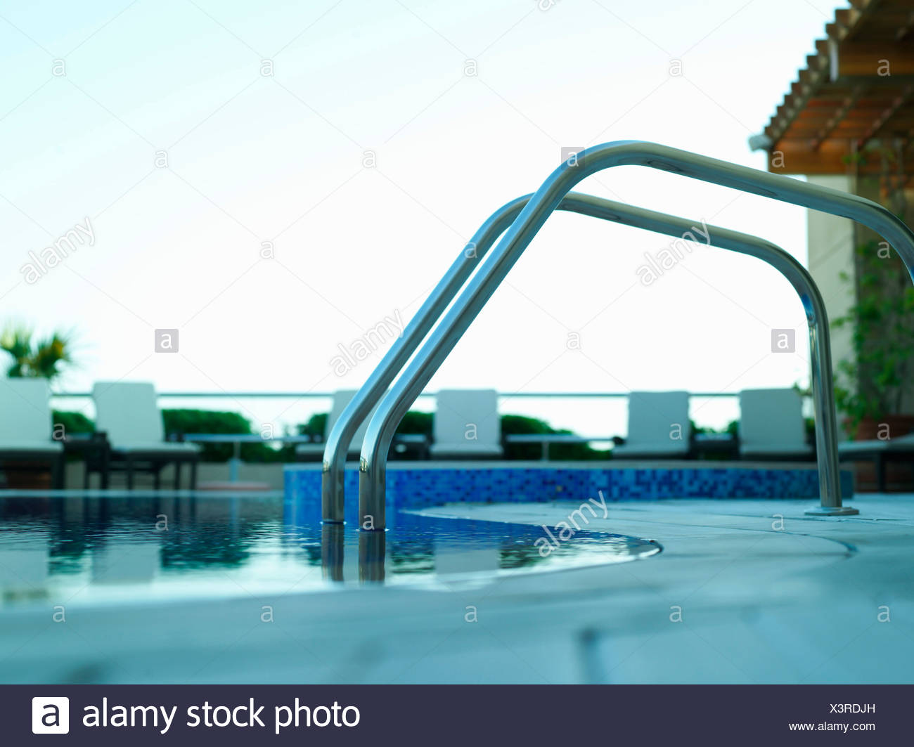 Dayshot view of Swimming Pool. - Stock Image