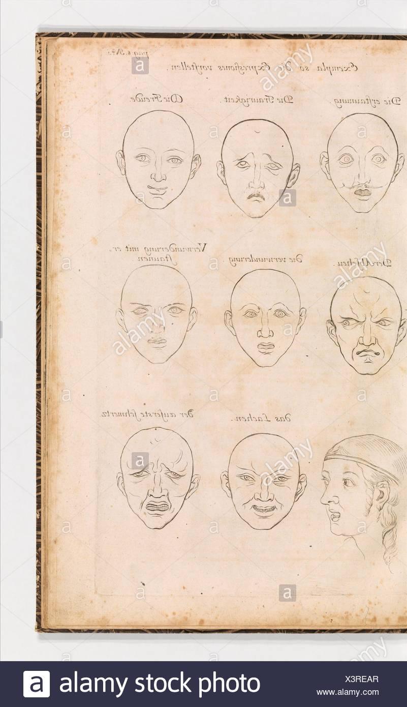 Anmerckungen Der Fürtrefflichsten Mahler unserer zeit über die Zeichen-und Mahlerey-Kunst zusammen getragen, Und in Sechs Tablellen, von der - Stock Image