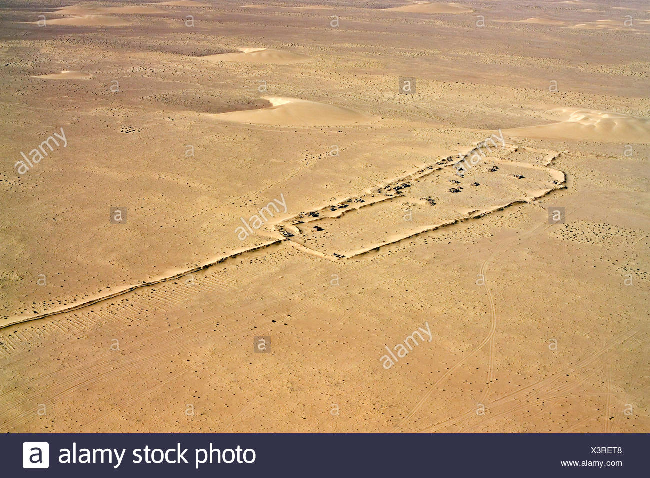 The Berm of Western Sahara or the Moroccan Wall. - Stock Image