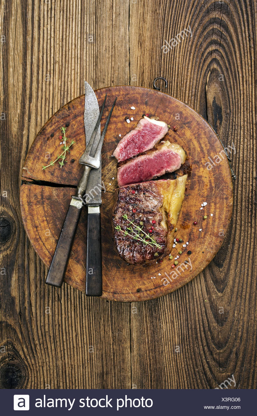 grilled steak - Stock Image