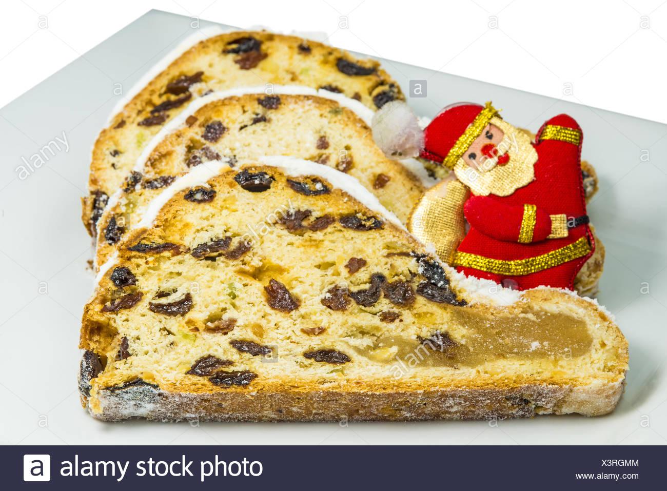 German christmas stollen. - Stock Image