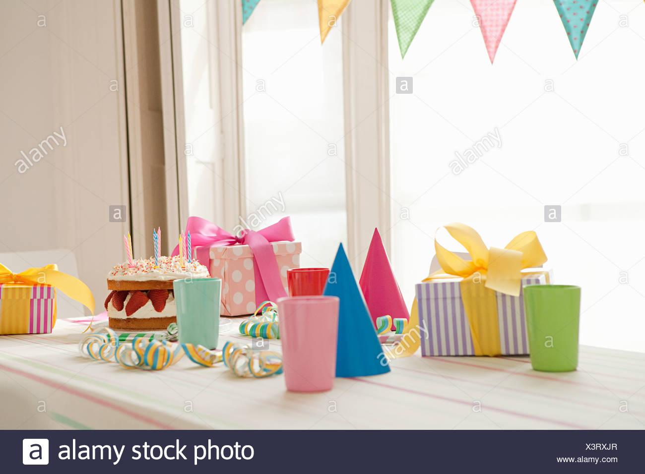 Birthday party preparation - Stock Image