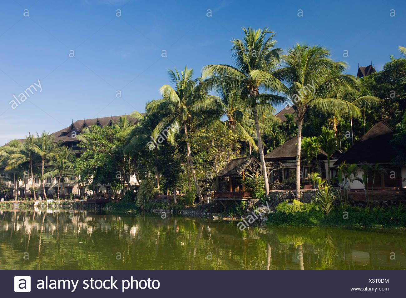 Kandawgyi lake, Rangoon, Yangon, Burma, Myanmar, Asia Stock Photo