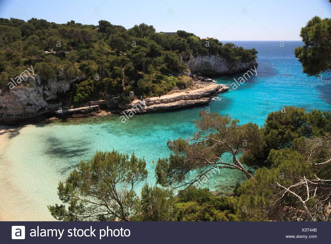Calla Lombards Mallorca Spain. - Stock Image
