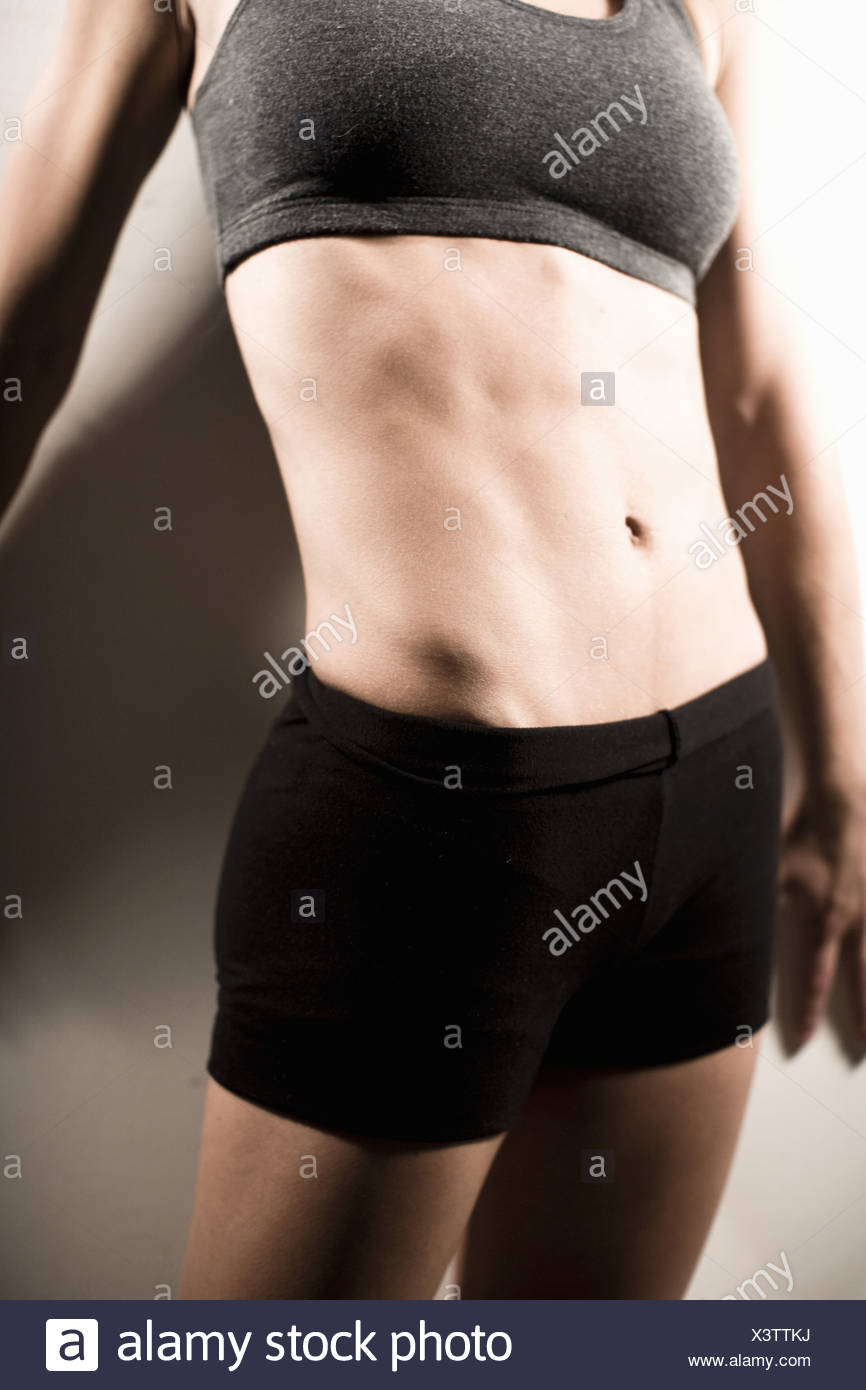 Woman wearing athletic gear - Stock Image