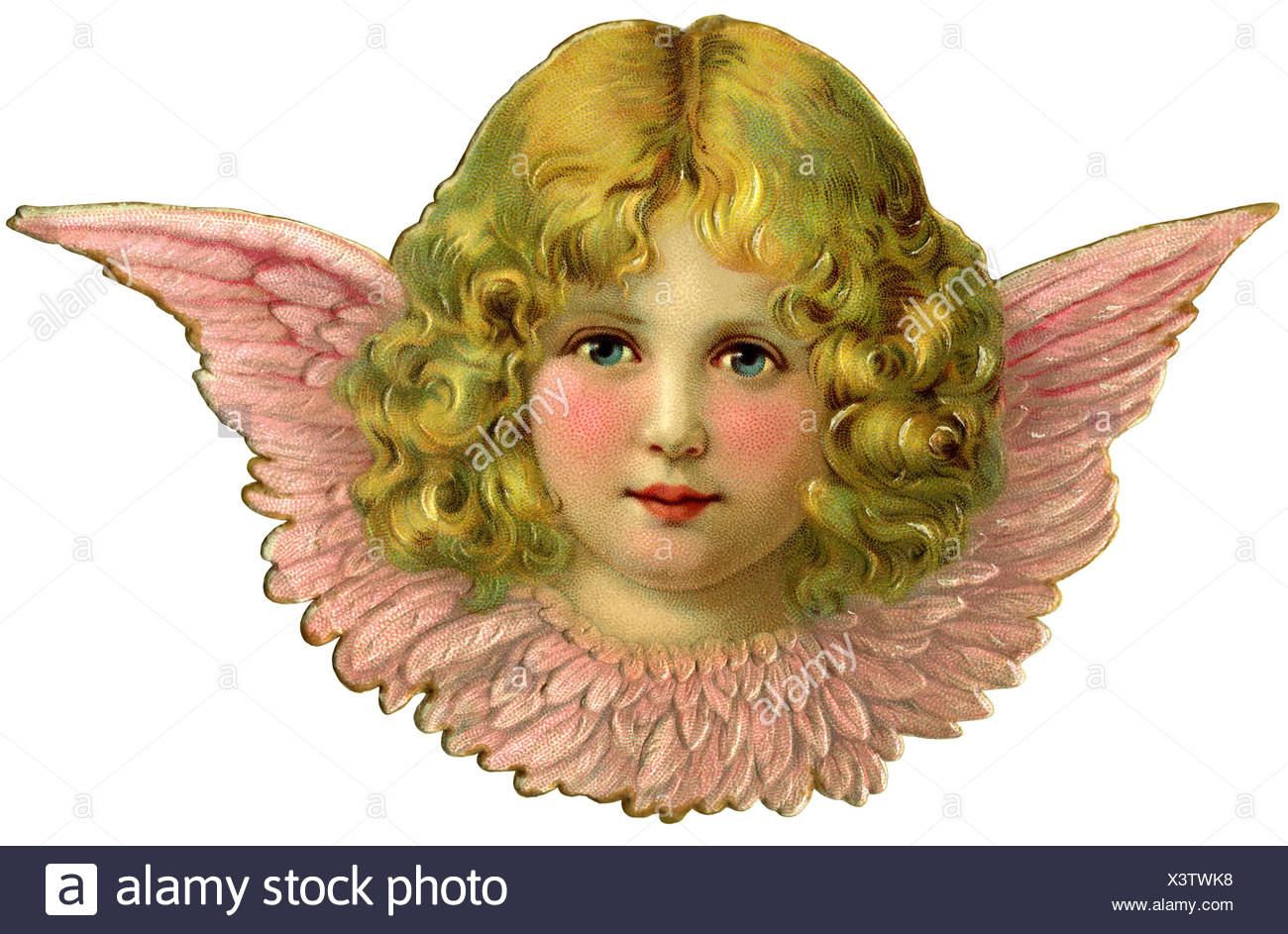 kitsch, cherub, scrap-picture, Germany, 1908, Additional-Rights-Clearences-NA - Stock Image