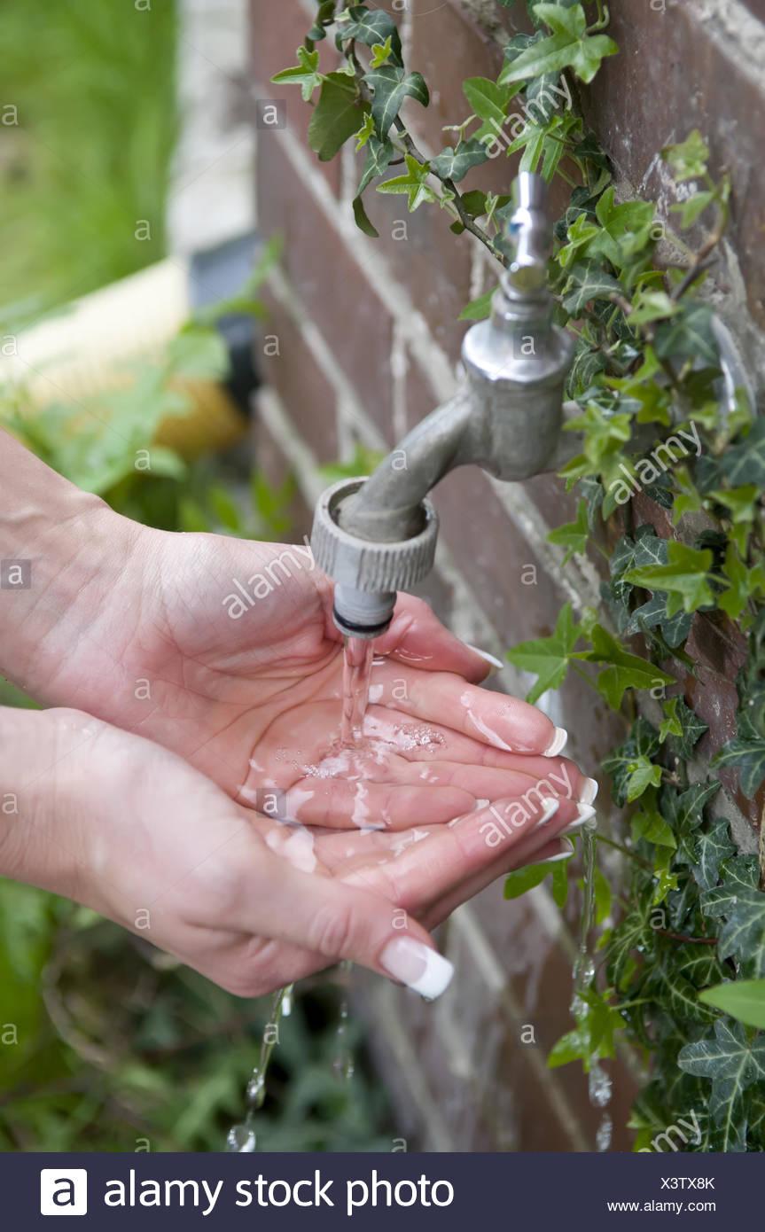 hands washing - Stock Image