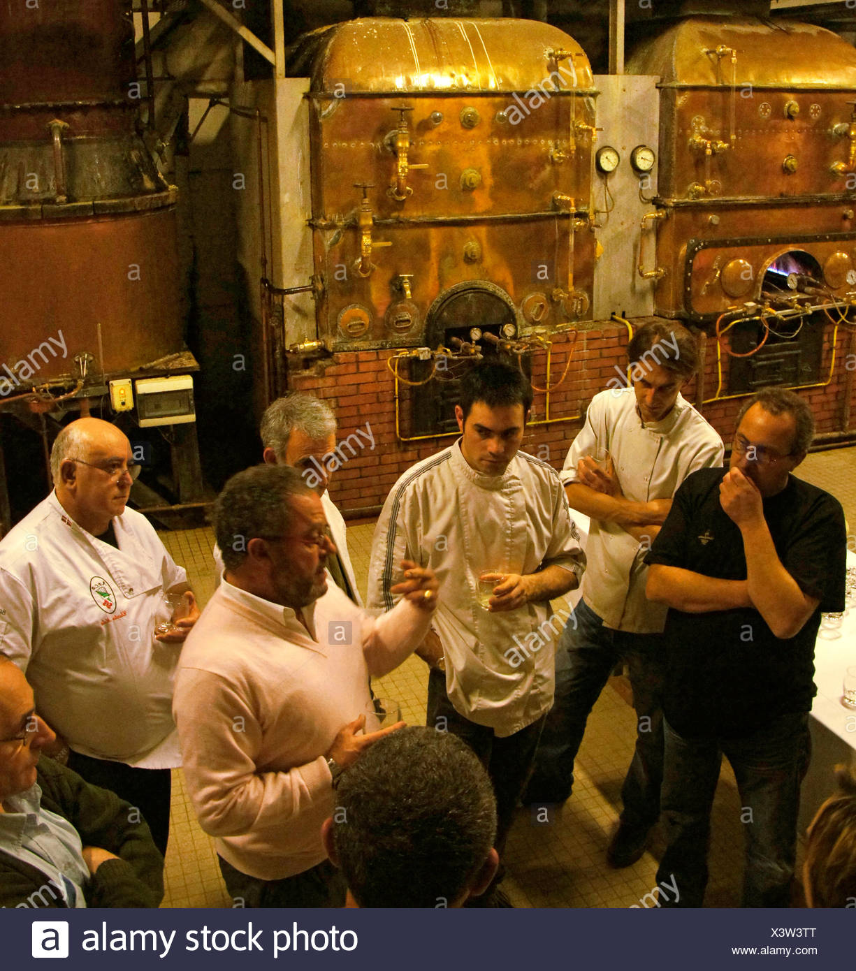 Visit at the Samalens armagnac estate, at Laujusan, Gers, Midi-Pyrenees, France - Stock Image