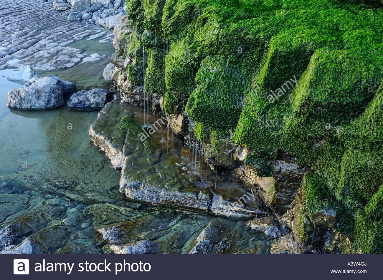 Cliffs in Peñarrubia beach, Gijon - Stock Image