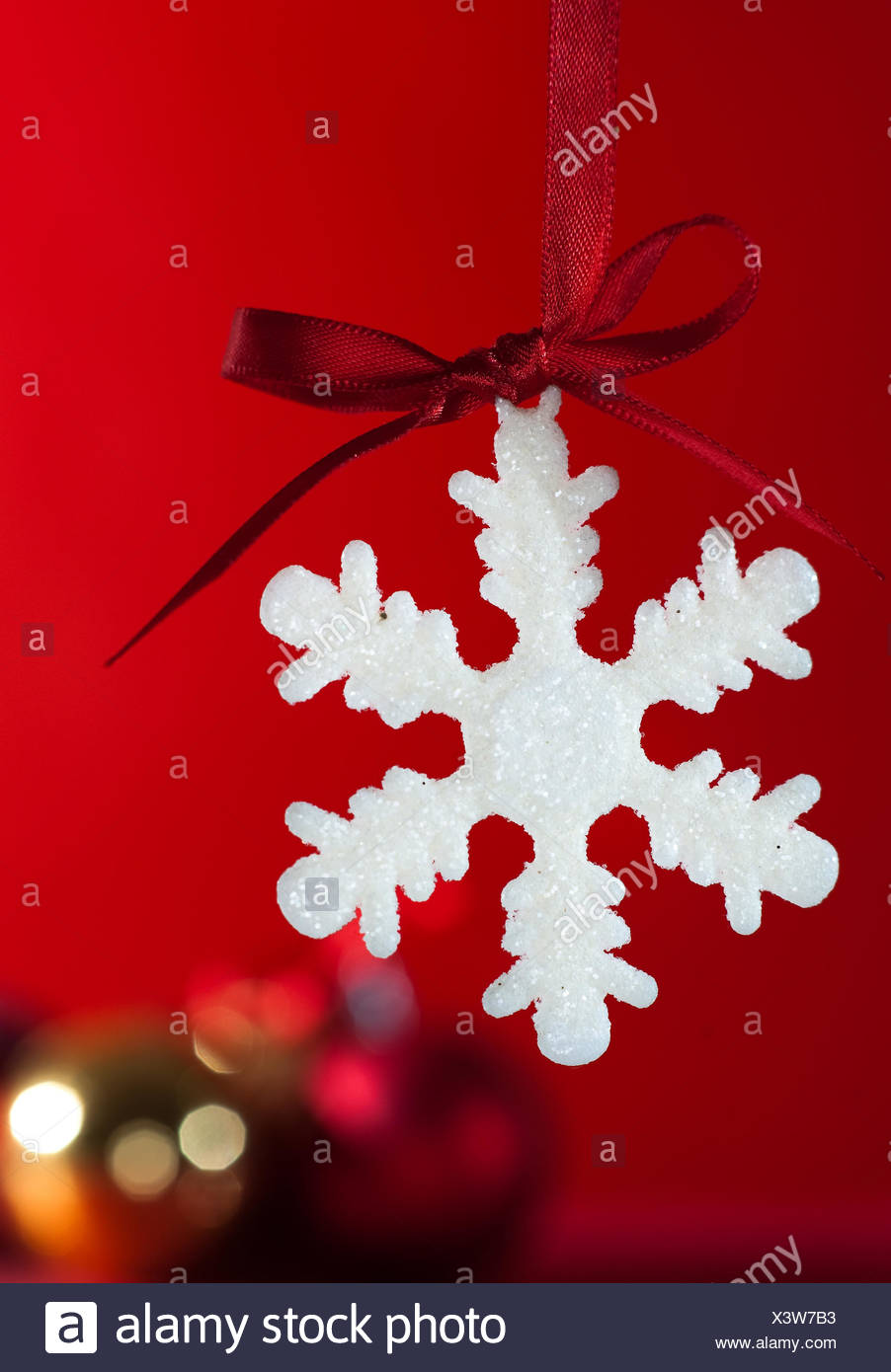 christmas snowflake Stock Photo