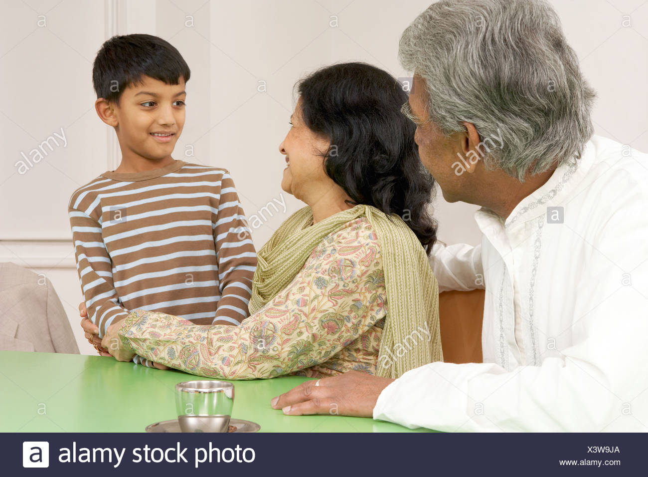 Grandparents with grandson - Stock Image
