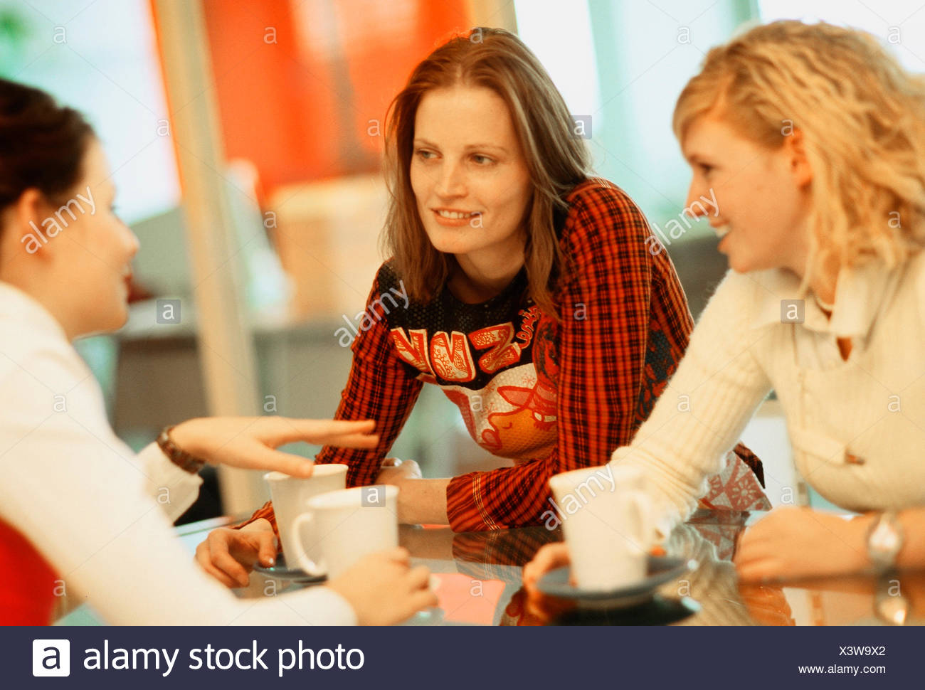 Young women at the conversation - Stock Image