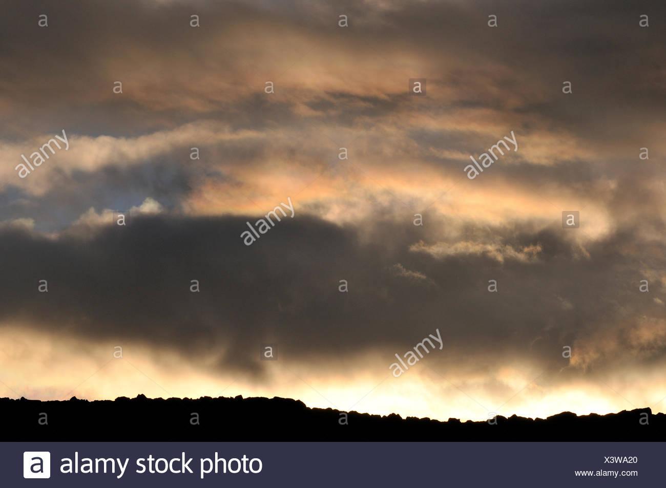 cloud color image Dalarna horizontal nature Scandinavia sky Sweden weather - Stock Image