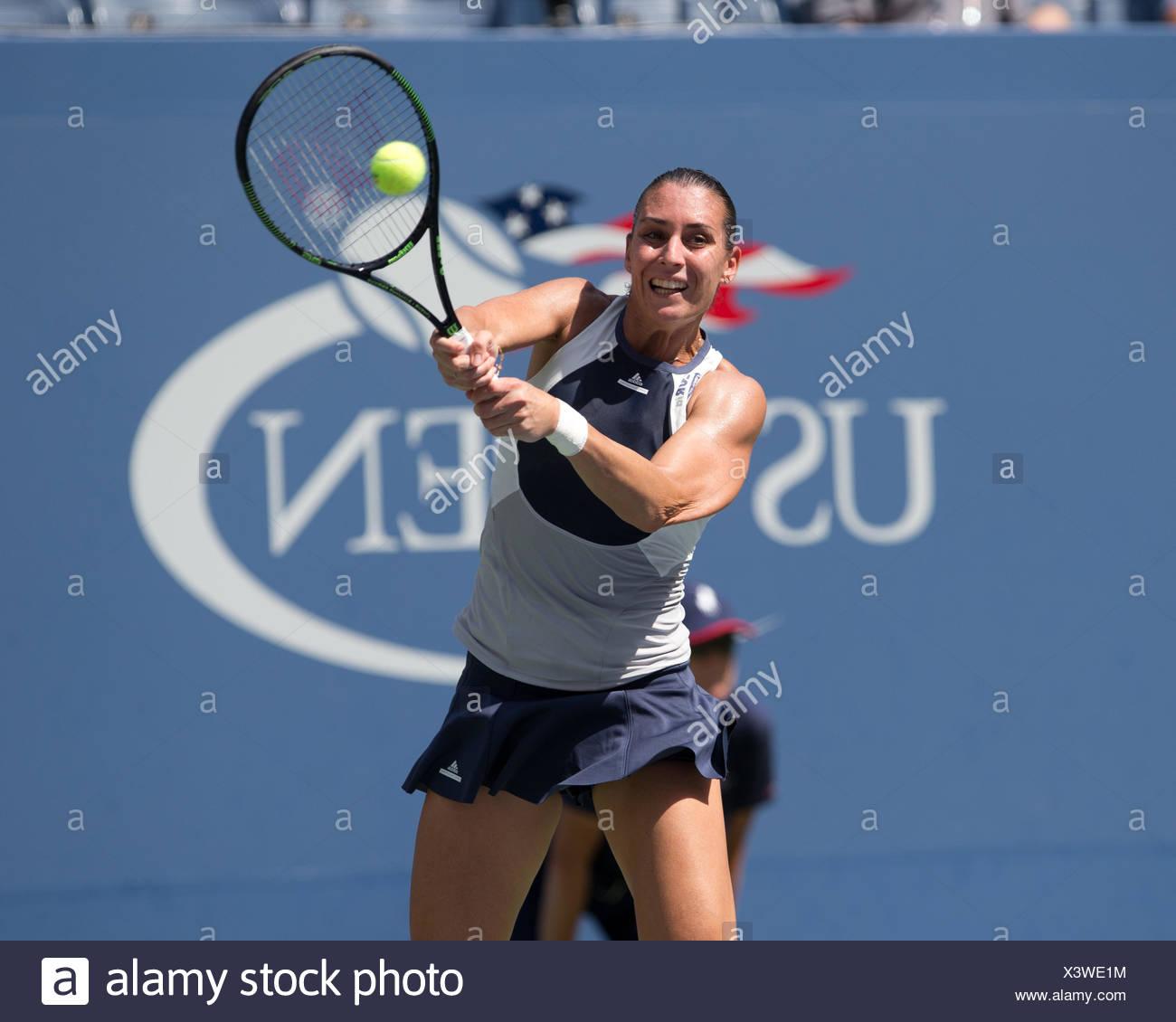 Flavia Pennetta, ITA, US Open 2015, Grand Slam tennis tournament, Flushing Meadows, New York, USA Stock Photo