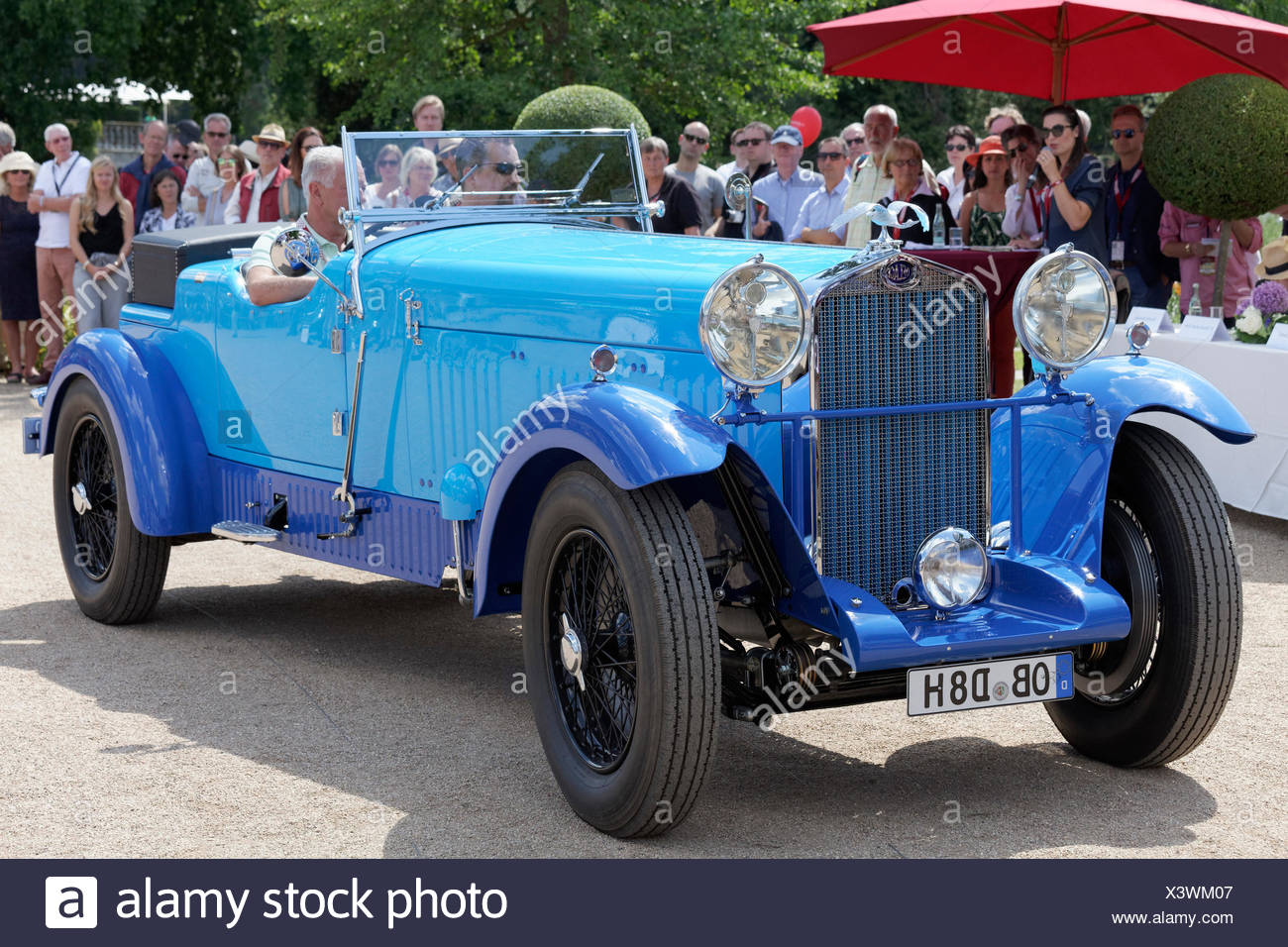 Delage D 8 SS, French luxury convertible from 1931, vintage car meeting, Classic Days Schloss Dyck, Jüchen - Stock Image